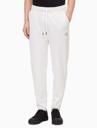 Calvin Klein monogram logo tapered sweatpants
