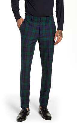 Topman Plaid Slim Fit Suit Pants