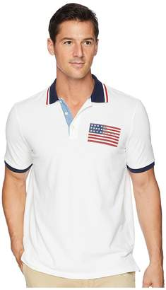 Polo Ralph Lauren American Flag Pique Polo Men's Clothing