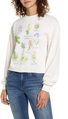 Icons Vinyl Floral Graphic Sweatshirt