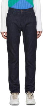 Kenzo Navy Graphic Pocket Jeans