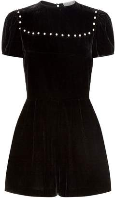Sandro Velvet Playsuit