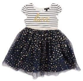 Zunie Little Girl's Metallic Stars Dress