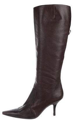Sergio Rossi Leather Knee-High Boots