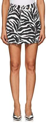 RE/DONE Women's Zebra-Print Denim Miniskirt