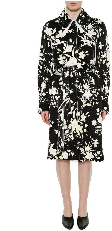 CelineCeline Washed Floral Jacquard Coat