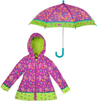 Stephen Joseph Print Raincoat & Umbrella Set