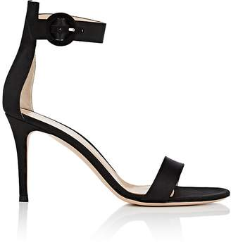 Gianvito Rossi Women's Portofino Satin Ankle-Strap Sandals