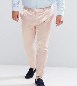 Asos Design DESIGN PLUS Super Skinny Smart Pant In Light Pink Sateen