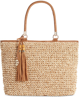 Giani Bernini Marled Straw Tote, Only at Macy's $119.50 thestylecure.com