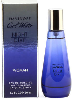 Davidoff Cool Water Night Dive for Ladies Eau de Toilette Spray, 1.7 oz./50 mL