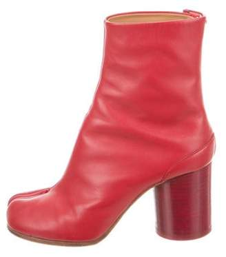 Maison Margiela Tabi Leather Ankle Boots Red Tabi Leather Ankle Boots