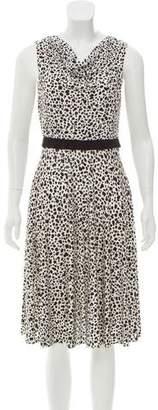 Max Mara Animal Print Sleeveless Dress