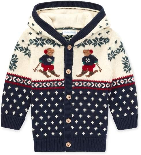 Ralph Lauren Kids Ralph Lauren Kids | Ski Bear Cotton-Wool Cardigan | 18-24 months | Hunter navy multi