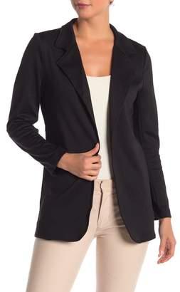 Modern Designer Fitted Knit Solid Long Blazer