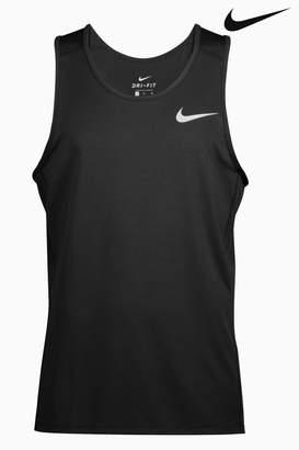 Next Mens Nike Run Black Miler Tank