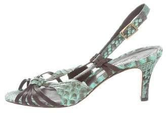 Loro Piana Python Multistrap Sandals
