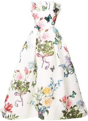 Monique Lhuillier floral print flared dress