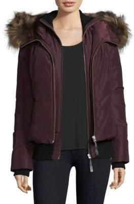 Mackage Fur-Trimmed Bomber Down Jacket