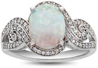FINE JEWELRY Womens Multi Color Opal Sterling Silver Cocktail Ring