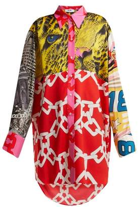 MSGM Patchwork Blouse - Womens - Red Multi