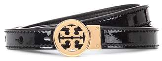 Tory Burch Reversible patent leather logo belt