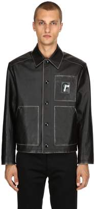 Prada Vintage Effect Leather Jacket