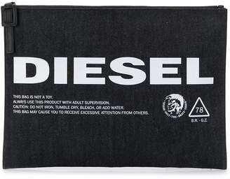 Diesel logo print pouch bag