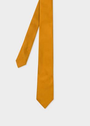 Paul Smith Men's Gold Silk Narrow Tie