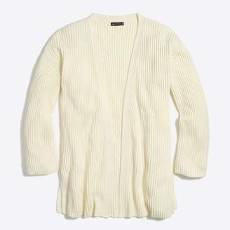 J.Crew Factory Cotton open-front sweater