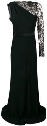 Alexander McQueen asymmetric one-shoulder gown