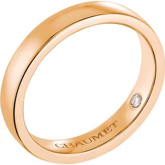 Chaumet Plume 18ct rose-gold secret diamond wedding band