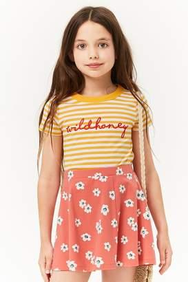 Forever 21 Girls Floral Skater Skirt (Kids)