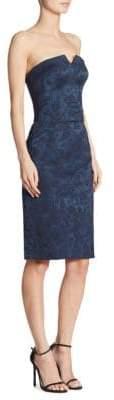 Zac Posen Floral-Print Strapless Dress
