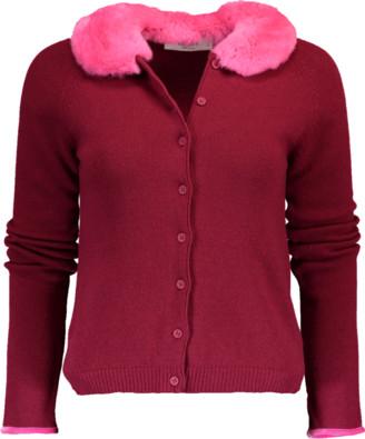 Blugirl Cardigan With Fur Collar