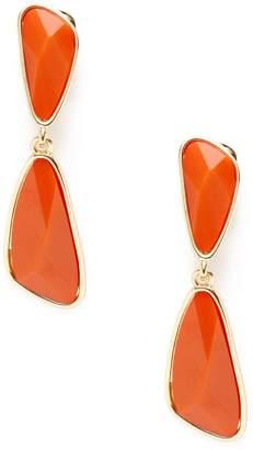 Kenneth Jay Lane Women's Resin Geometric Double Drop Earrings