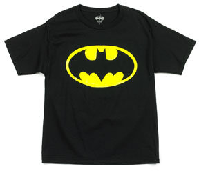 Boys (8-20) Short Sleeve Batman Glow Shield Tee