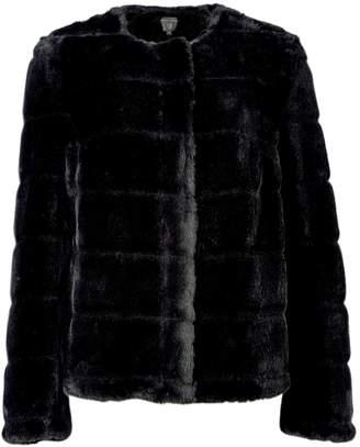 Dorothy Perkins Womens Black Short Faux Fur Jacket