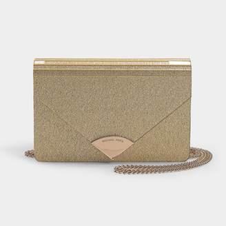 MICHAEL Michael Kors Barbara Medium Envelope Clutch Bag In Pale Gold Pvc