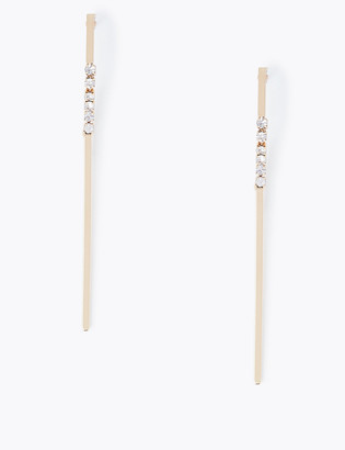 Marks and Spencer Crystal Stick Drop Earrings