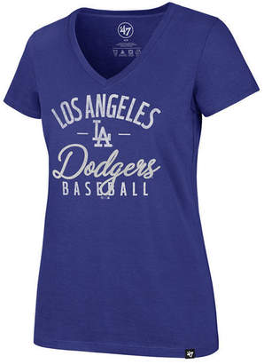 '47 Women's Los Angeles Dodgers Ultra Rival Metallic Script T-Shirt