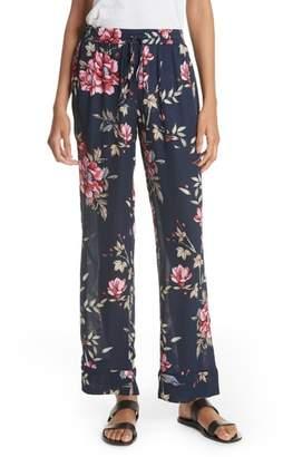 Joie Daltona Floral Silk Pants