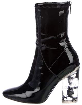 Christian Dior Patent Leather Mid-Calf Boots