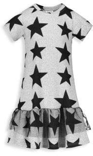 Andy & Evan Baby Girl's& Little Girl's Star-Print A-Line T-Shirt Dress