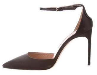 Brian Atwood Satin Pointed-Toe Pumps