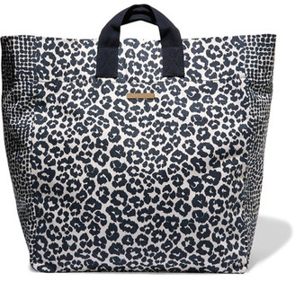 Stella McCartney - Printed Cotton-canvas Tote - Midnight blue $225 thestylecure.com