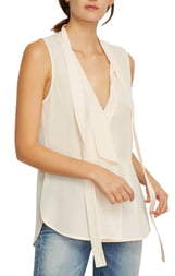 Habitual Clio Sleeveless Tie Neck Silk Blouse