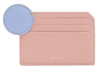 Roksanda Dot Bi Colour Leather Cardholder - Womens - Light Pink