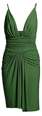 Alexandre Vauthier Women's Stretch Jersey Deep V-Neck Slip Dress