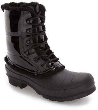 Women's Hunter Original Genuine Shearling Lined Waterproof Boot $295 thestylecure.com